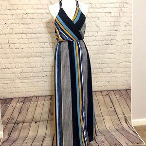 Striped Maxi Dress, size Medium